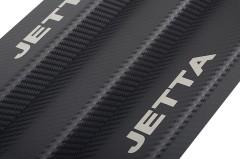 Фото товара 4 - Накладки на пороги карбон для Volkswagen Jetta VI '11- (Premium+k)