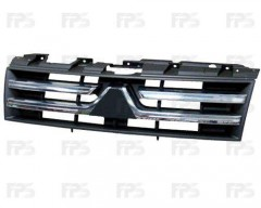 Решетка радиатора для Mitsubishi Pajero Wagon 4 '07- хром/черн. (FPS)