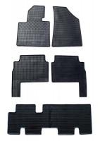 Коврики в салон для Kia Sorento '10-13 XM резиновые, черные (Rigum) 1+2+3 ряд