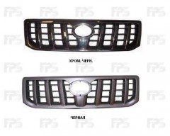 Решетка радиатора для Toyota Land Cruiser Prado 120 '03-09 черная (FPS)