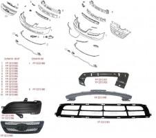 Решетка радиатора для Hyundai Sonata '05-07 верхняя накладка, черная (FPS)