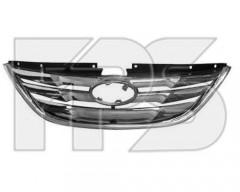 Решетка радиатора для Hyundai Sonata '10-15 хром (FPS)