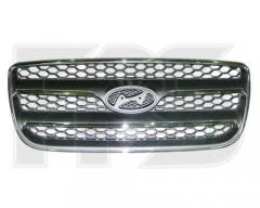 Решетка радиатора для Hyundai Santa Fe '06-10 CM хром/черная (FPS)