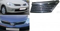 Решетка радиатора для Nissan Tiida '05- (полоски) (FPS)