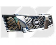 Решетка радиатора для Nissan Pathfinder '05- с хром молдингом (FPS)