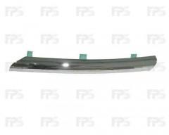 Решетка радиатора для Nissan Almera '02-06 левая, хром (FPS)
