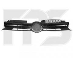 Решетка радиатора для Volkswagen Golf VI '09- хром/черная (FPS)