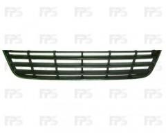 Решетка бампера для Volkswagen Passat B6 '05-10 средняя с черная молдингом (FPS)