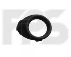 Решетка бампера для Ford Fiesta '09-13 под ПТФ, левая (черная) (FPS)