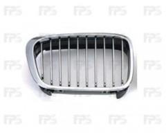 Решетка радиатора для BMW 3 E46 '98-01 левая, хром, черная (FPS)