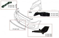 Решетка бампера для Hyundai Accent (Solaris) '11-17 без ПТФ, левая (FPS)