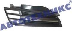 Решетка радиатора для Nissan Micra '03-05 хром/черная (FPS)