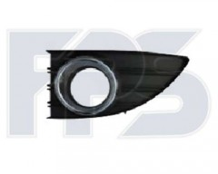 Решетка бампера для Renault Fluence '09- под ПТФ, левая (окуляр хром.) (FPS)
