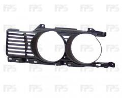 Решетка радиатора для BMW 5 E34 '88-93 правая, оправа (FPS)