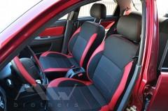 Фото 2 - Авточехлы Premium для салона Chevrolet Aveo '04-11, седан красные (MW Brothers)