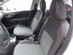 Авточехлы Premium для салона Citroen C-Elysee '13- красные, с деленной спинкой (MW Brothers)