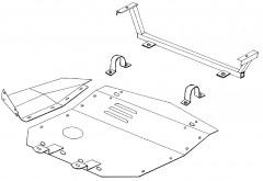 Кольчуга Защита двигателя для Audi 100 '91-94, V-2,2; 2,3; 2,6; 2,8; 2,4D, кроме 4х4, V-2,0; 4,2; 2,5ТD (Кольчуга)