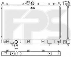 Радиатор охлаждения двигателя для MITSUBISHI (NRF) FP 48 A1366-X