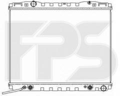Радиатор охлаждения двигателя для KIA (NRF) FP 40 A712-X