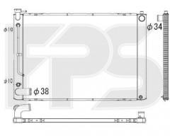 Радиатор охлаждения двигателя для LEXUS (KOYORAD) FP 81 A86-X