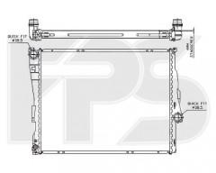 Радиатор охлаждения двигателя для BMW (FPS) FP 14 A26