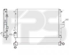 Радиатор охлаждения двигателя для RENAULT (NRF) FP 56 A145