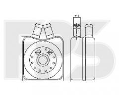 Масляный радиатор для VW (NRF) FP 74 B01