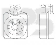 Масляный радиатор для VW (NISSENS) FP 74 B02-X