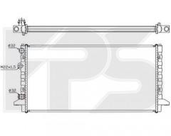 Радиатор охлаждения двигателя для VW (NISSENS) FP 74 A457