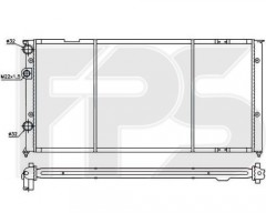 Радиатор охлаждения двигателя для VW (NRF) FP 74 A454-X