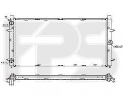 Радиатор охлаждения двигателя для VW (NRF) FP 74 A753-X