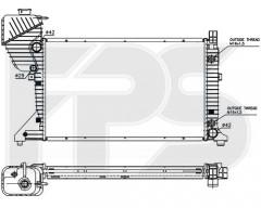 Радиатор охлаждения двигателя для MERCEDES (NRF) FP 46 A1032-X