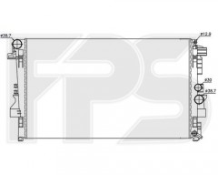 Радиатор охлаждения двигателя для MB (NRF) FP 46 A16-X