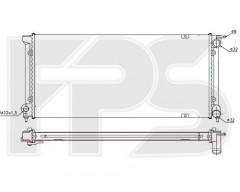 Радиатор охлаждения двигателя для VW (FPS) FP 74 A450