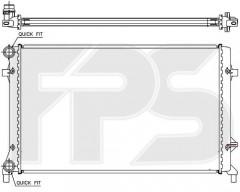 Радиатор охлаждения двигателя для SEAT / SKODA / VW (KOYORAD) FP 12 A472-X