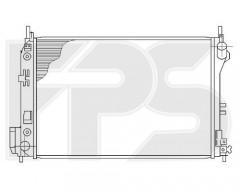 Радиатор охлаждения двигателя для FIAT / OPEL (NRF) FP 52 A300-X