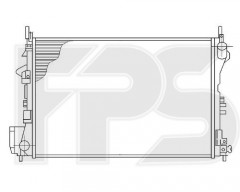 Радиатор охлаждения двигателя для OPEL (FPS) FP 52 A1093