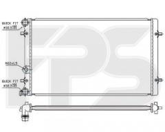 Радиатор охлаждения двигателя для SEAT / SKODA / VW (NRF) FP 62 A826-X