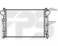 Радиатор охлаждения двигателя для MERCEDES (AVA) FP 46 A1013