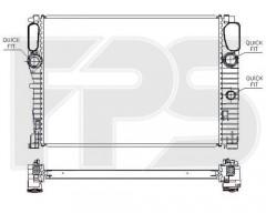 Радиатор охлаждения двигателя для MB (NRF) FP 46 A1018-X