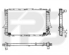 Радиатор охлаждения двигателя для AUDI (FPS) FP 12 A757