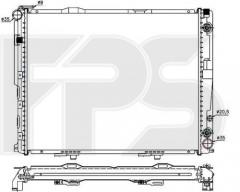 Радиатор охлаждения двигателя для MERCEDES (BEHR) FP 46 A1038-X