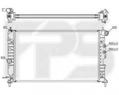 Радиатор охлаждения двигателя для OPEL (NRF) FP 52 A287-X