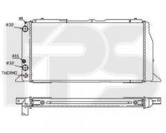 Радиатор охлаждения двигателя для AUDI (FPS) FP 12 A418
