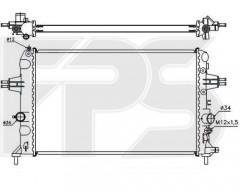Радиатор охлаждения двигателя для OPEL (NISSENS) FP 52 A1088