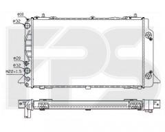Радиатор охлаждения двигателя для AUDI (NISSENS) FP 12 A846-X