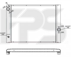 Радиатор охлаждения двигателя для BMW (Nissens) FP 14 A895-X