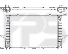Радиатор охлаждения двигателя для VOLVO (NRF) FP 72 A487-X