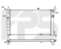 Радиатор охлаждения двигателя для OPEL (FPS) FP 52 A258-P