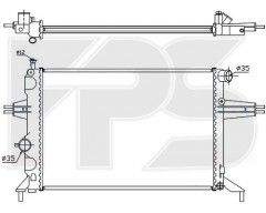 Радиатор охлаждения двигателя для OPEL (FPS) FP 52 A314